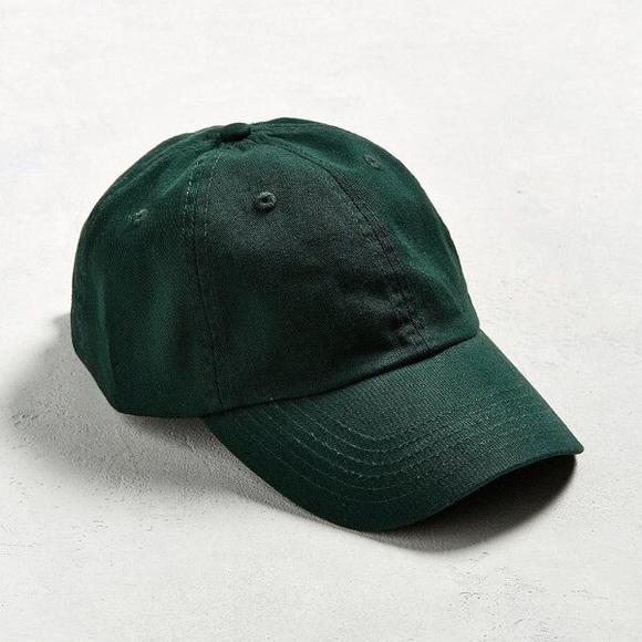 9dd794c622e UO Curved Brim Baseball Cap Dad Hat Forest Green